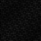Abstraktes Wiederholen plus die silberne Farbe des Musters geometrisch auf Schwarzem vektor abbildung