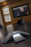 Abstraktes Winkel-Konferenz-Telefon Lizenzfreies Stockfoto