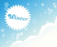 Abstraktes Winterbild Stockfoto