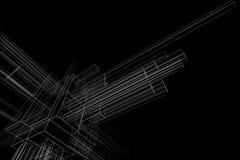 Abstraktes wireframe Stockbild