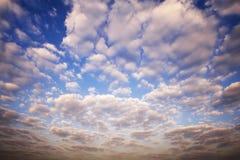 Abstraktes Wolke scape im Himmel am Morgen Lizenzfreie Stockbilder
