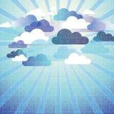 Abstraktes Wolkenhintergrundpuzzlespiel lizenzfreie abbildung