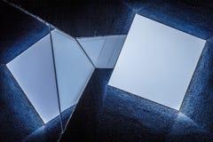 Abstraktes zeitgenössisches Architekturdetail Stockfoto