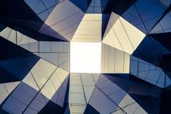Abstraktes zeitgenössisches Architekturdetail in Europa Stockfotografie