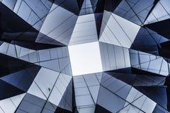 Abstraktes zeitgenössisches Architekturdetail in Europa Stockbilder