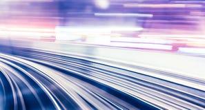 Abstraktes Zugbewegen Stockfotografie