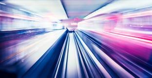 Abstraktes Zugbewegen Stockbilder