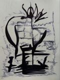 abstraktion Abstrakt begrepp målning bild Arkivbilder