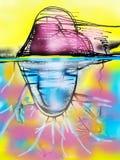 abstraktion Abstrakt begrepp målning bild Arkivfoton