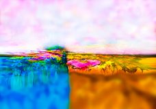 abstraktion Abstrakt begrepp målning bild royaltyfri illustrationer