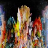 abstraktion Abstrakt begrepp målning bild textur stock illustrationer