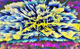 abstraktion Abstrakt begrepp målning bild textur Arkivfoto