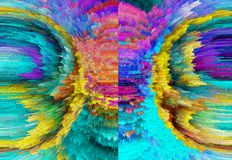 abstraktion Abstrakt begrepp målning bild textur Royaltyfri Bild