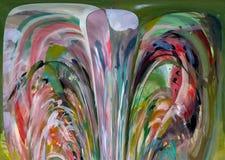 abstraktion Abstrakt begrepp målning bild textur texturerat unikhet _ abstractionism texturer färgrikt färger Grap stock illustrationer