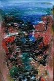 abstraktion Abstrakt begrepp målning bild textur texturerat unikhet _ abstractionism texturer färgrikt färger Grap Royaltyfri Bild