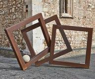 Abstraktion auf der Straße in Taormina Stockfotos