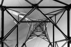 Abstraktion av en elektrisk pol royaltyfria bilder