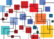 Abstraktion av fyrkanter och linjer Arkivfoto