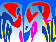 Abstraktion das blaue Porträt Stockbild