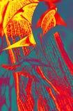 Abstraktion in den blauen und orange Farben Stockfotografie