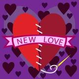 Abstraktion der gefundenen neuen Liebe Stock Abbildung