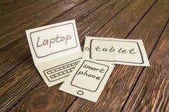 Abstraktion der Zukunft für den Laptop Lizenzfreie Stockfotos