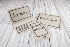 Abstraktion der Zukunft für den Laptop Stockfotografie