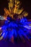Abstraktion des blured Weihnachtsbaums Stockbilder