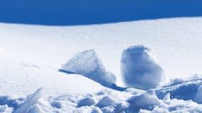 Abstraktion des Schnees und des Sonnenlichts Stockfotos
