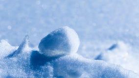 Abstraktion des weißen und blauen Schnees und des Eises Lizenzfreies Stockfoto