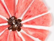 Abstraktion einer Wassermelone Stockfotografie