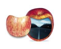 Abstraktion eines Apfels in einem Abschnitt Stockbild