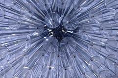 Abstraktion eines Fragments eines Leuchters vom Glas lizenzfreie stockfotografie