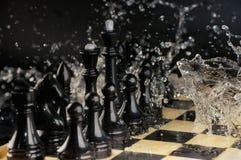 Abstraktion eines Schachspiels Stockfotografie
