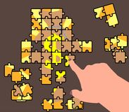 Abstraktion eines Unternehmensplans Puzzlespiel Stock Abbildung