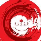 Abstraktion för blod för Grungestilvektor röd Royaltyfri Bild