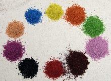 Abstraktion, farbiger Sand Lizenzfreies Stockbild