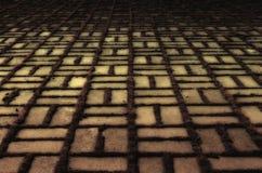 Abstraktion in Form von geometrischen Formen auf Beton Lizenzfreie Stockfotografie