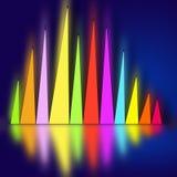 Abstraktion från mångfärgade diagram vektor illustrationer