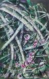 Abstraktion gemalt mit Ölfarben und Gouache Stockbilder