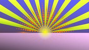 Abstraktion gryning Ljus och original- abstraktion vektor illustrationer