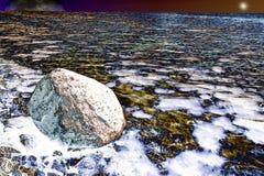 Abstraktion, Hintergrund, Steine auf dem Ufer der Bucht Lizenzfreie Stockfotos
