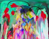 Abstraktion innen graphik Anstrich Auszug Kunst abbildung Entwurf stockfoto