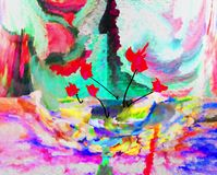 Abstraktion innen graphik Anstrich Auszug Kunst abbildung Entwurf lizenzfreies stockfoto
