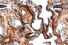Abstraktion kurvt Zahlen Muster Stockbild