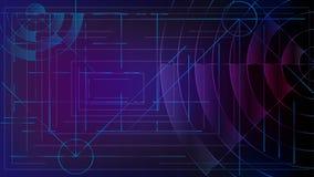 Abstraktion LOGON zum Computersystem Schneidene Linien und Wellen lizenzfreie abbildung