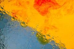 Abstraktion med bubblor arkivbild