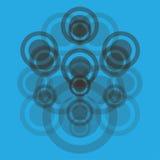 Abstraktion med cirklar Arkivfoton