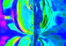 Abstraktion med dess reflexion Arkivfoton