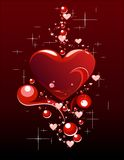 Abstraktion med hjärta Stock Illustrationer